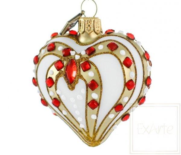 Serce 5cm - Z rubinkami