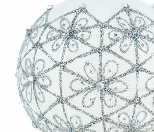 Kula 10cm - Srebrzysta noc, 10cm ball - silvery night, 10cm Ball - silberne Nacht
