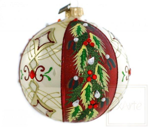 ostrokrzew bombka świąteczna