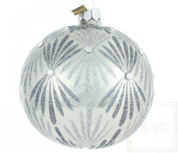 bombki bożonarodzeniowe metaliczne / Kugeln 10cm - Frost gemalt / Bauble 10cm - Frost painted