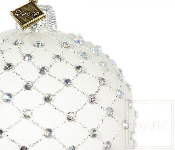 Kula 8cm - Tęcza w kryształkach