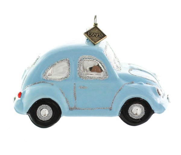 błękitny samochodzik bombka na choinkę