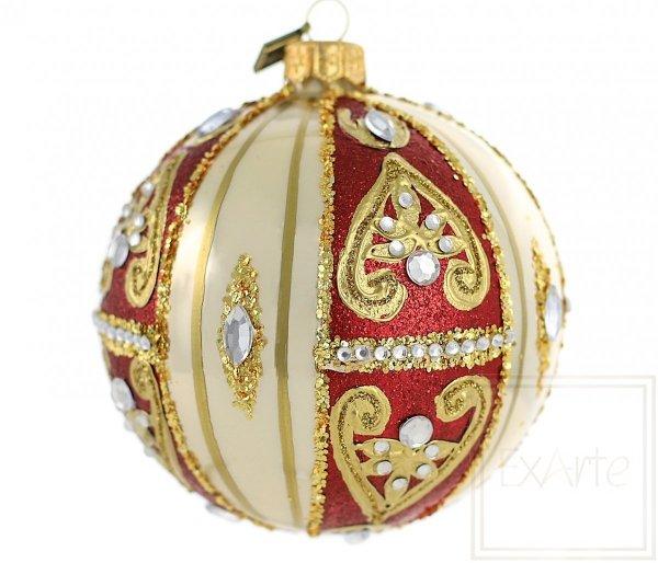 klasyczna ręcznie dekorowana bombka