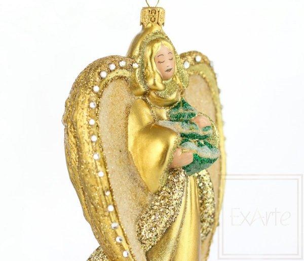 Szklana bombka anioł