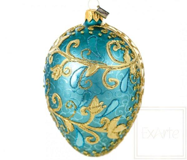 Jajko 13cm - Złote liliowce
