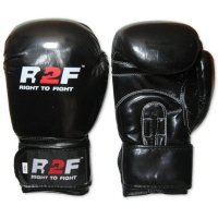 Rękawice skaj R2F M5 czarne błysk 14oz