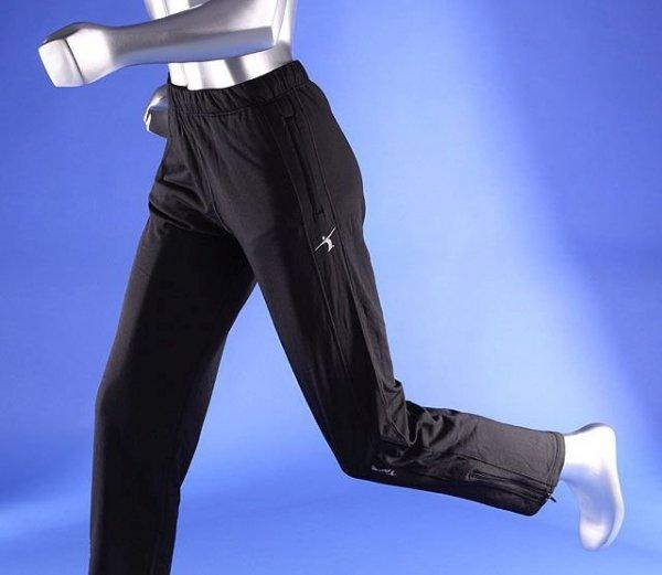 Męskie spodnie treningowe, czarne, WarmSystem 170cm