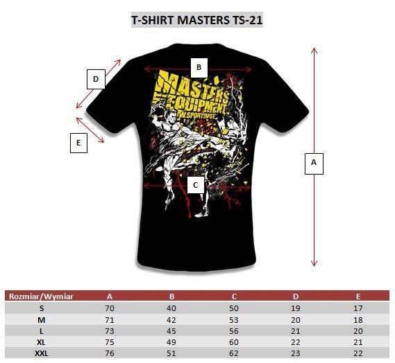 koszulka treningowa czarna masters TS-21