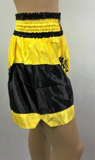 Spodenki thai ST-5 czarno-żółte