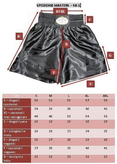 spodenki treningowe do thaiboxingu SK-1