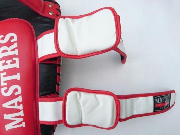 Tarcze treningowe skórzane czarno-czerwone - TPAO-Z S3