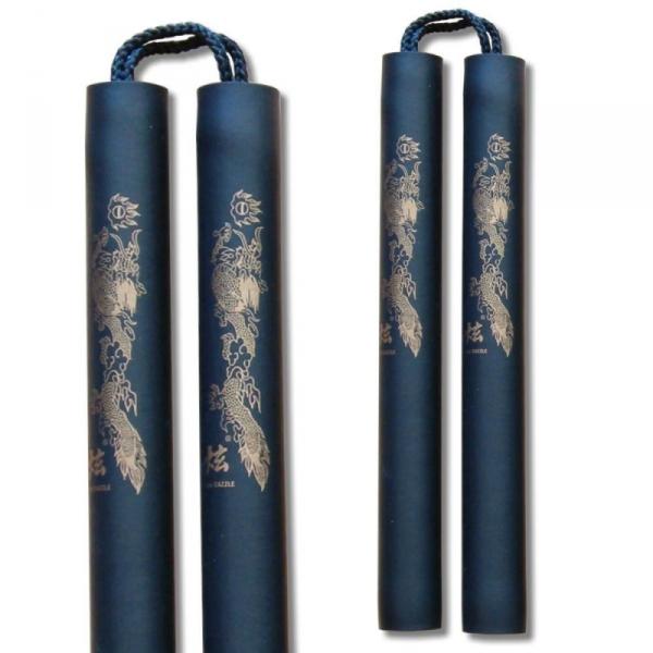 Nunchaku piankowe -na sznurku ze smokiem