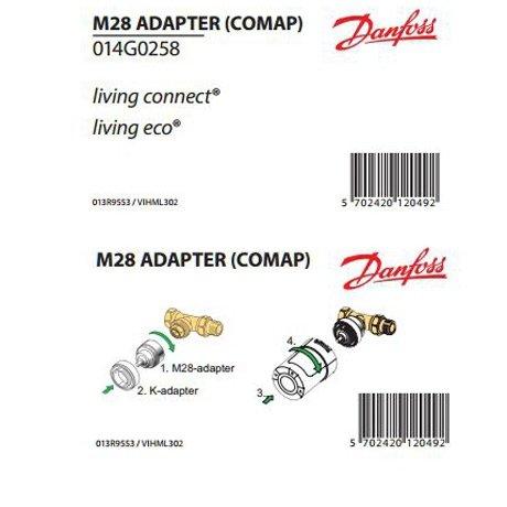 Adapter do zaworów M28 Comap do głowic termostatycznych