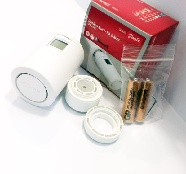 Termostat grzejnikowy Danfoss Eco 2 Bluetooth z adapterami RA i M30 w zestawie