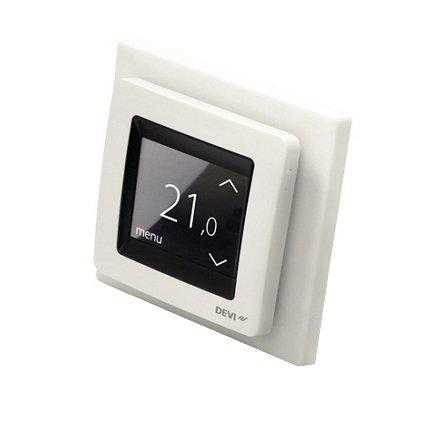 Termostat DEVIreg Touch biały widok z boku