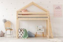 DMPBA 90x160cm Łóżko piętrowe dziecięce domek Mila ADEKO