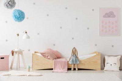 BOX 3 90x190cm Łóżko drewniane dziecięce