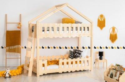 Zippo B 90x140cm Łóżko piętrowe dziecięce domek Mila ADEKO