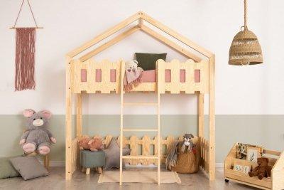 Kaiko PA 70x160cm Łóżko piętrowe dziecięce domek Mila ADEKO