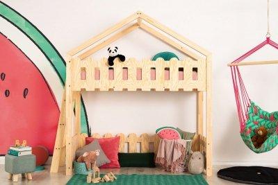 Kaiko BA 70x180cm Łóżko piętrowe dziecięce domek Mila ADEKO