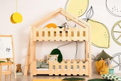 Kaiko B 80x160cm Łóżko piętrowe dziecięce domek Mila ADEKO
