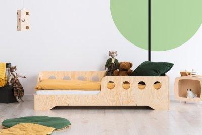 KIKI 5 - L  90x150cm Łóżko dziecięce drewniane ADEKO