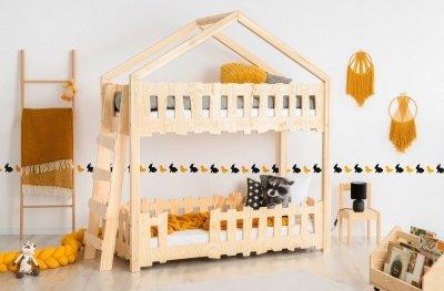 Zippo B 90x190cm Łóżko piętrowe dziecięce domek Mila ADEKO