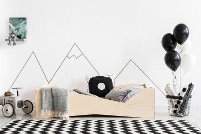 BOX 5 90x170cm Łóżko drewniane dziecięce