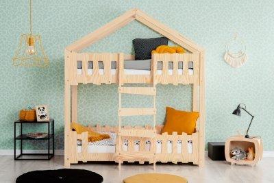 Zippo P 70x140cm Łóżko piętrowe dziecięce domek Mila ADEKO