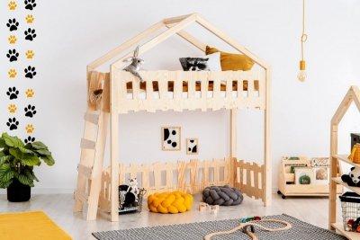 Zippo BA 90x140cm Łóżko piętrowe dziecięce domek Mila ADEKO