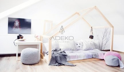 Łóżko dziecięce domek Mila DM 135x190cm ADEKO