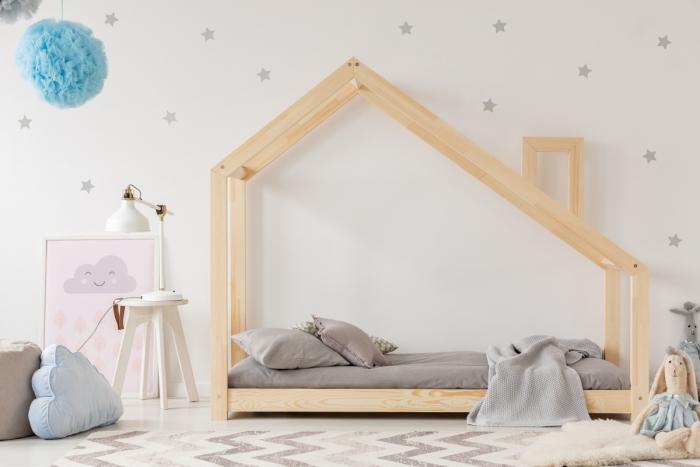 DMS 70x140cm Łóżko dziecięce domek Mila ADEKO