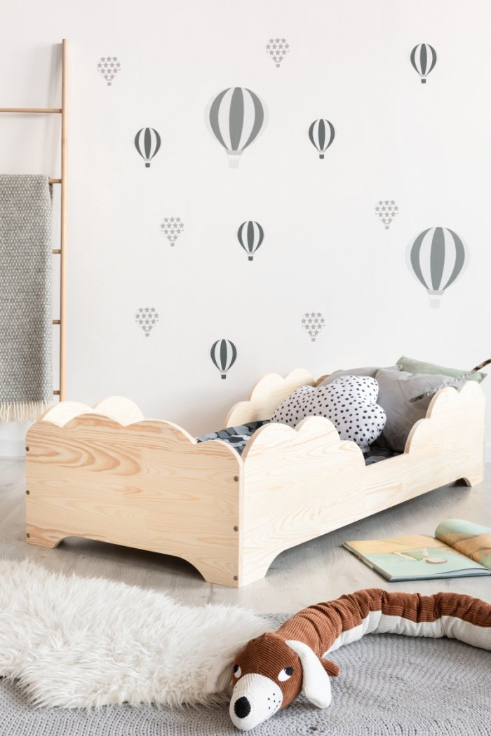 BOX 10 80x190cm Łóżko drewniane dziecięce