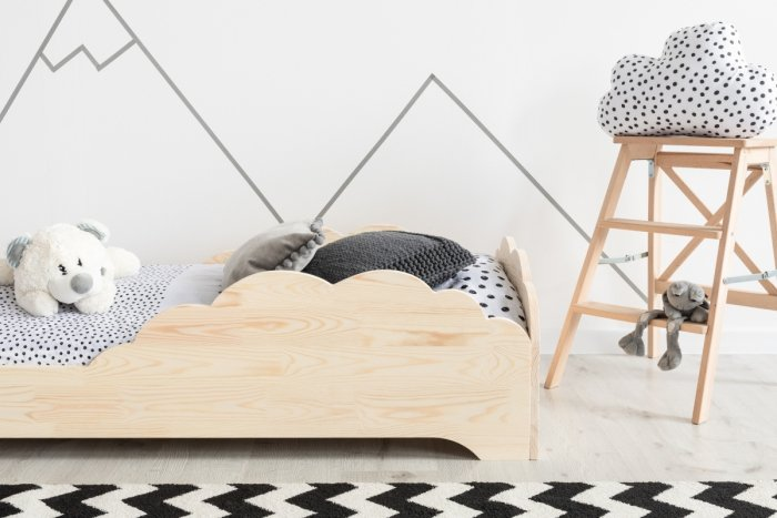 BOX 9 90x190cm Łóżko drewniane dziecięce