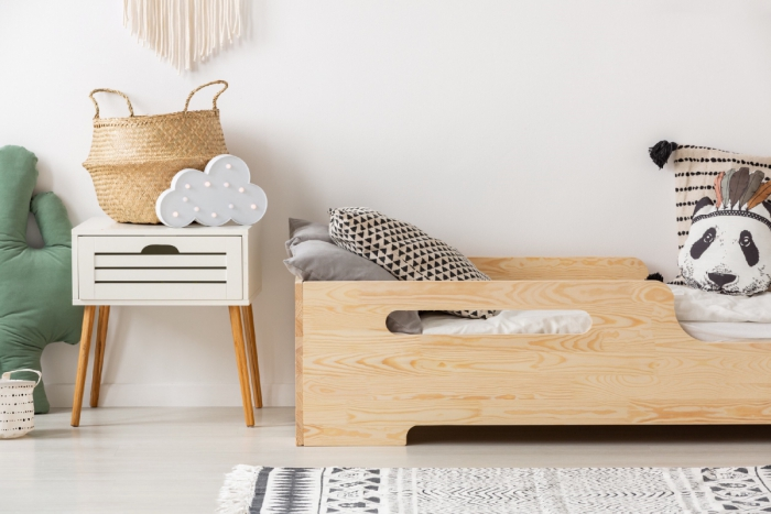 BOX 2 90x200cm Łóżko drewniane dziecięce