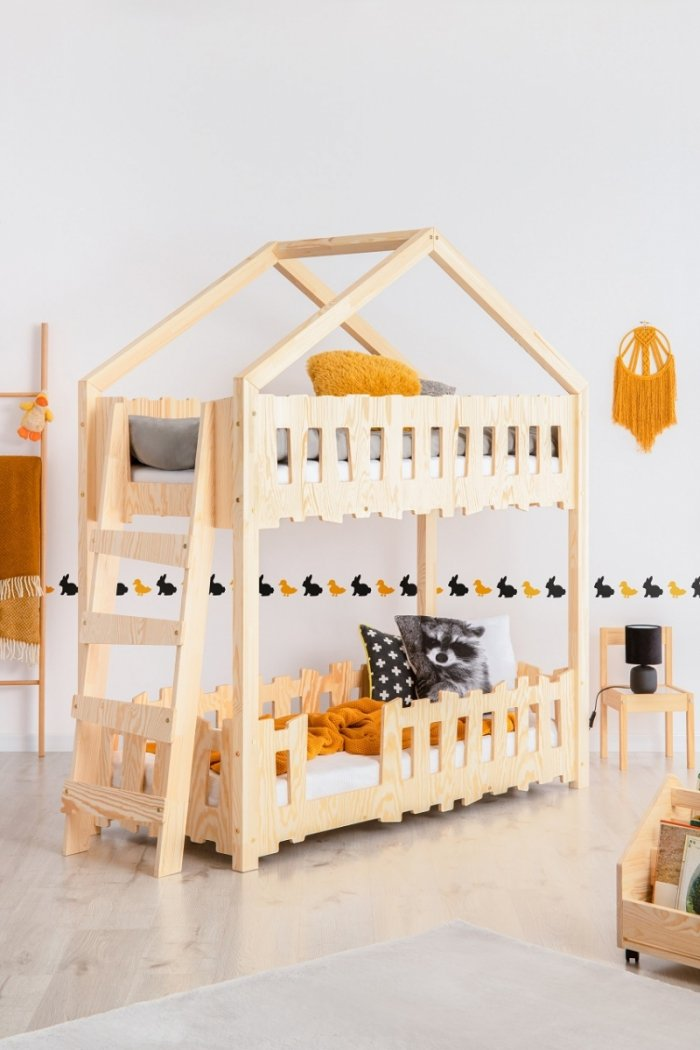 Zippo B 70x160cm Łóżko piętrowe dziecięce domek Mila ADEKO