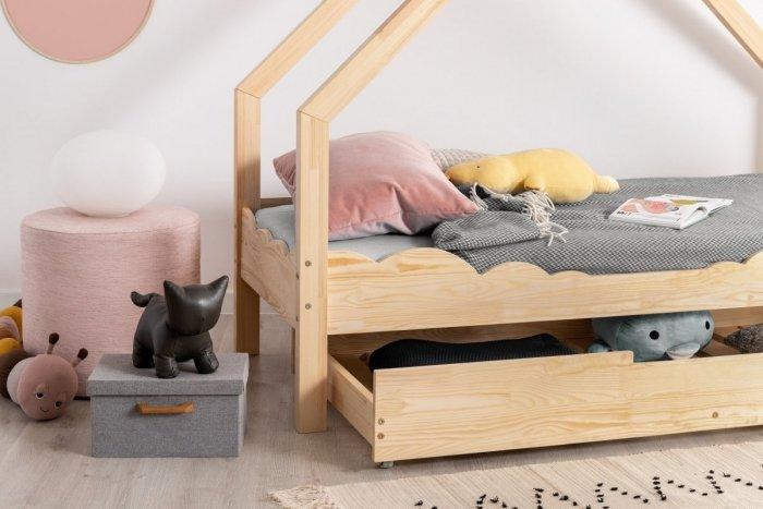 Loca D 70x160cm Łóżko dziecięce drewniane ADEKO