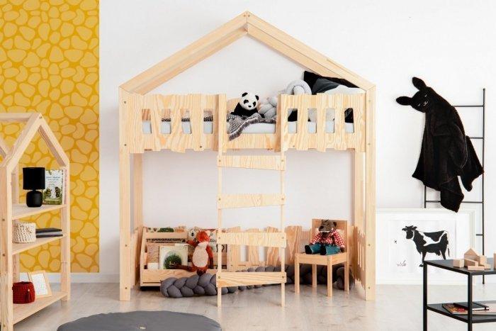 Zippo PA 80x190cm Łóżko piętrowe dziecięce domek Mila ADEKO