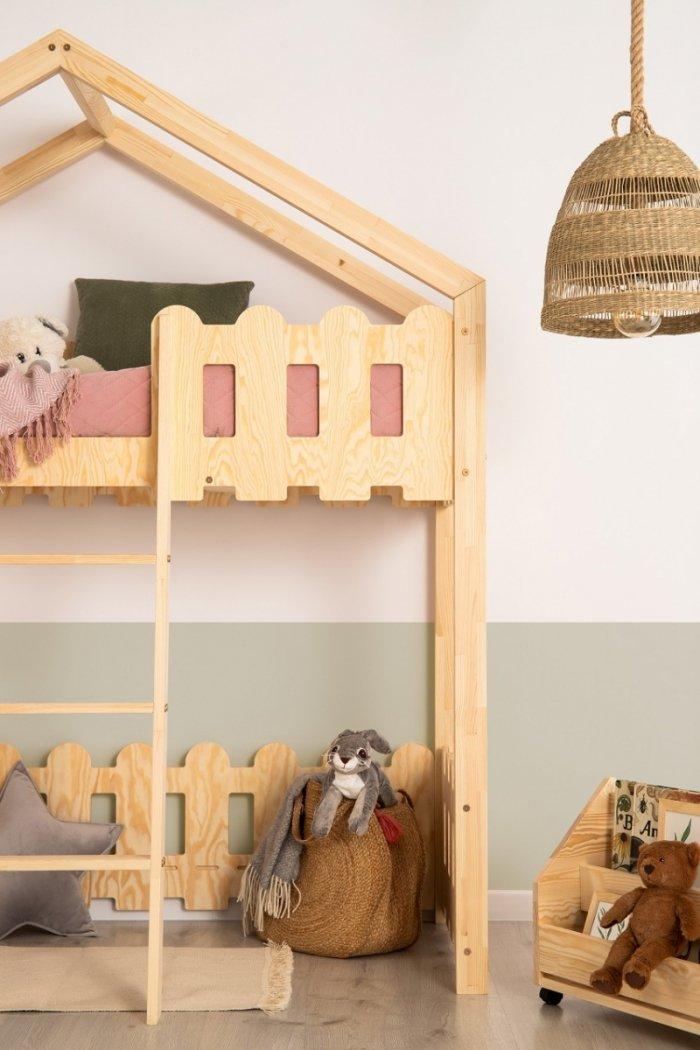 Kaiko PA 90x160cm Łóżko piętrowe dziecięce domek Mila ADEKO