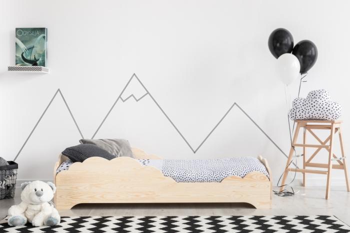 BOX 9 70x160cm Łóżko drewniane dziecięce