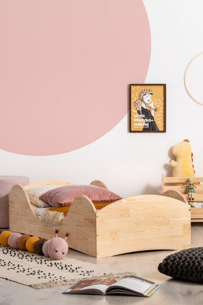 PEPE 1 90x140cm Łóżko drewniane dziecięce