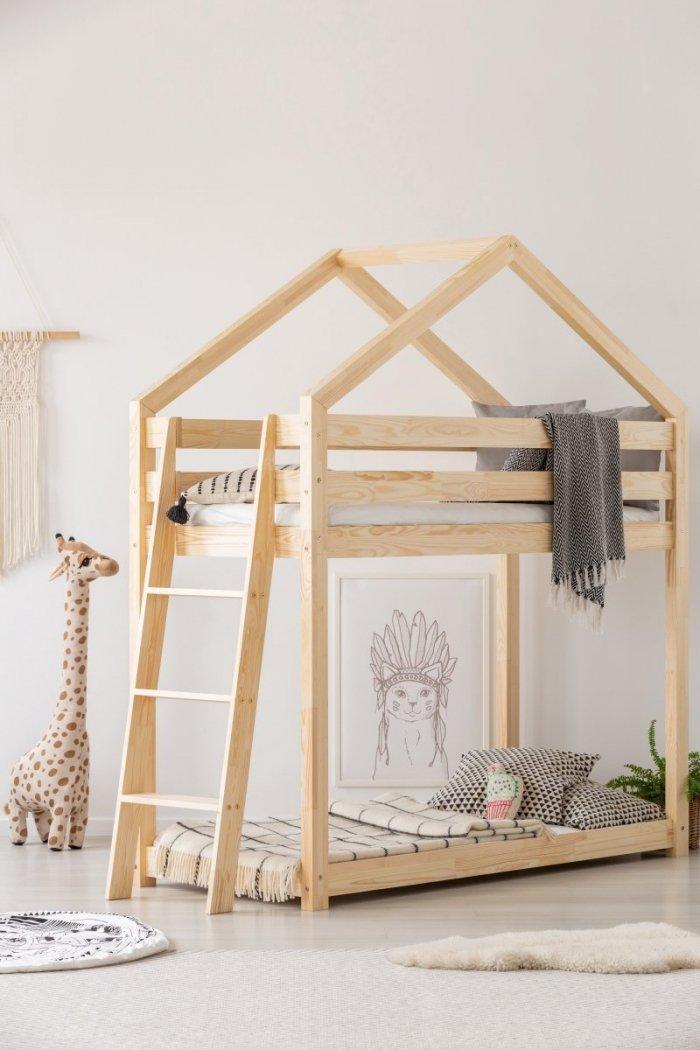 DMPB 90x200 Łóżko piętrowe dziecięce domek Mila ADEKO