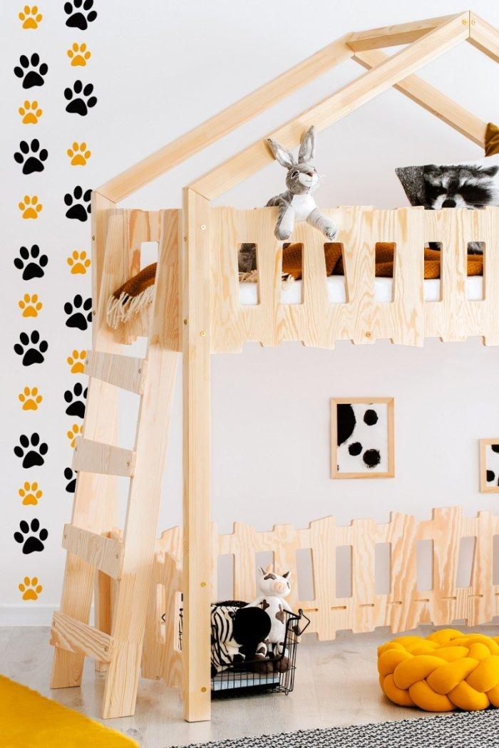 Zippo BA 90x190cm Łóżko piętrowe dziecięce domek Mila ADEKO