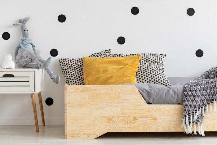BOX 1 80x140cm Łóżko drewniane dziecięce