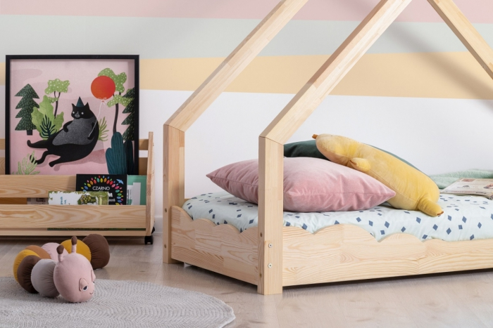 Luna D 70x140cm Łóżko dziecięce domek ADEKO