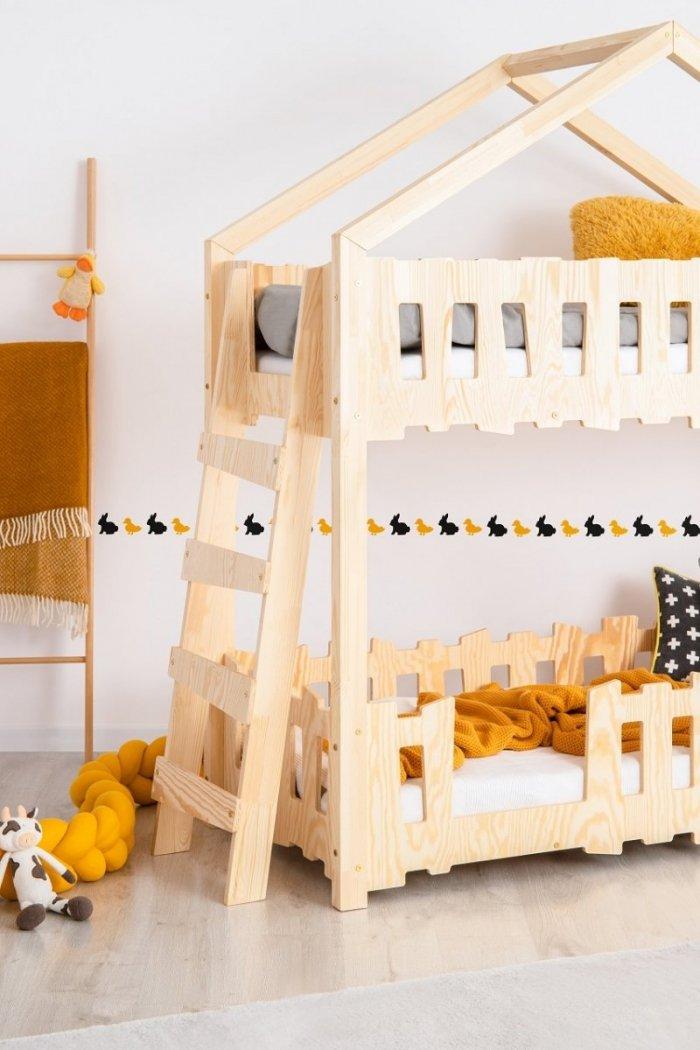Zippo B 80x160cm Łóżko piętrowe dziecięce domek Mila ADEKO