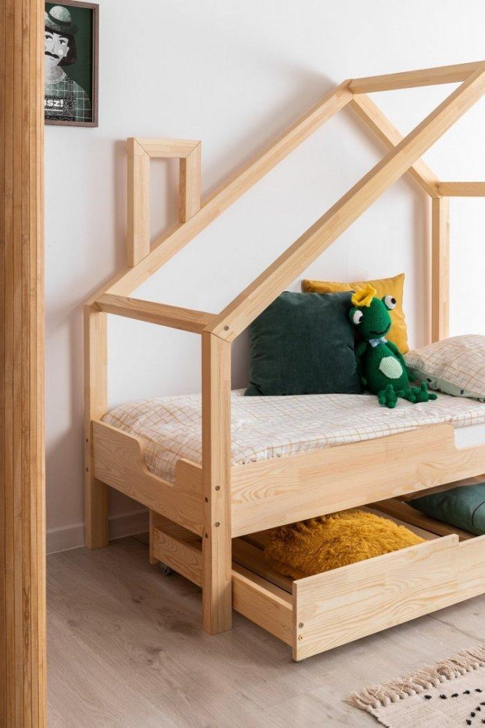 Luna C 70x160cm Łóżko dziecięce domek ADEKO
