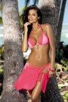 Kostium kąpielowy Marko Amber Foulard-Baletto M-260 Bladoróżowy (52)