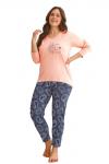 Taro Omena 2611 różowa piżama damska