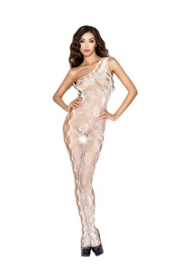 Passion BS036 white Bodystocking